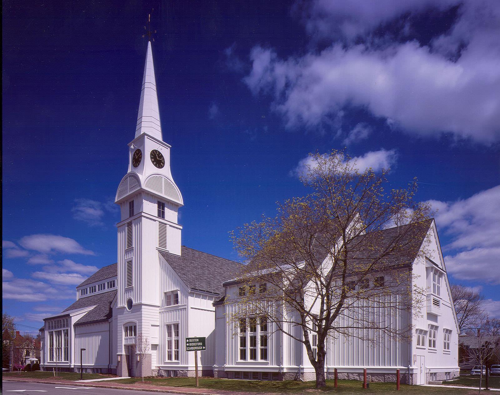 First Parish Congregational Church Saco Maine Barba